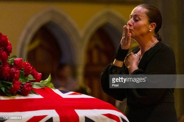 People pay their respects during the state funeral for Sisto Malaspina at St Patrick's Cathedral in Melbourne Australia Tuesday November 20 2018