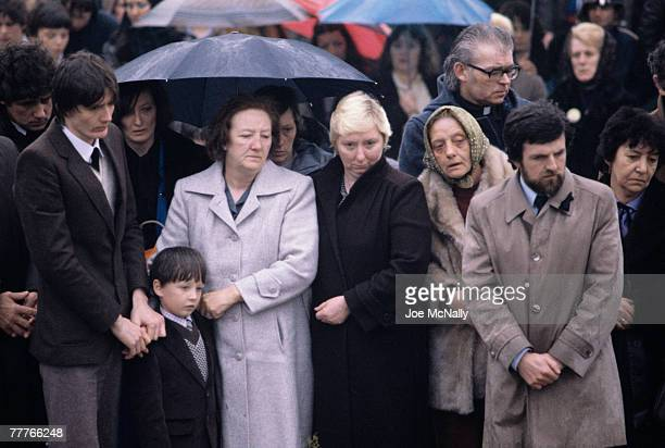 People pay their respects to Bobby Sands at his funeral in May of 1981 in Northern Ireland Bobby Sands an active member of the Irish Republican Army...