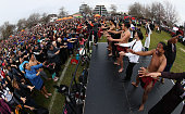 rotorua new zealand people perform mass