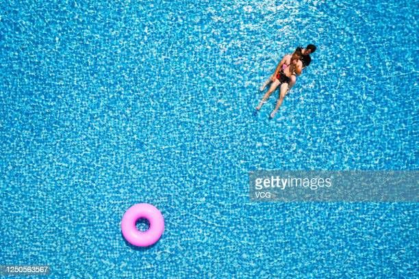 People play at Dongqian Lake water park on June 18 2020 in Ningbo Zhejiang Province of China