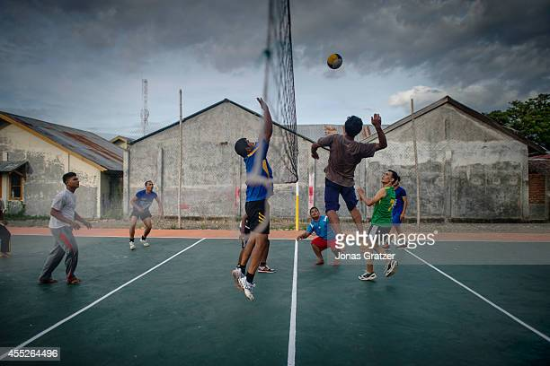 People play volleyball in Banda Aceh after 10 years have passed since the 2004 tsunami disaster life goes on The tsunami of December 2004 was as...