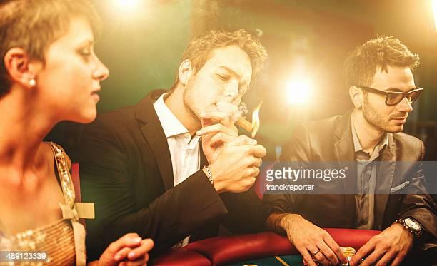 people playing at poker