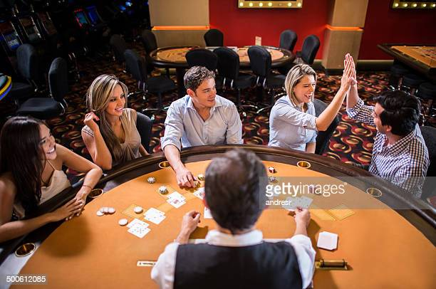 People playing at the Casino