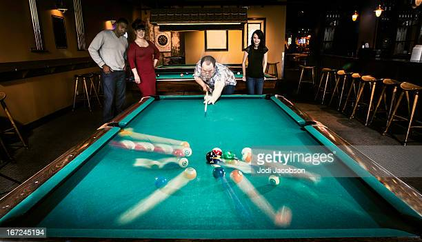 People Playing Snooker and Pool