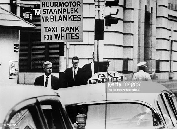November 1967 South Africa the country of Apartheid where black and whiteas the signs suggest go their different ways