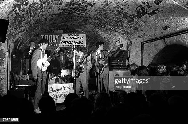 """People, Pop Music, pic: 1964, The famous Cavern Club in Liverpool, England, , the scene for the """"Sound of '64 Beat Contest"""", for the finals of the..."""