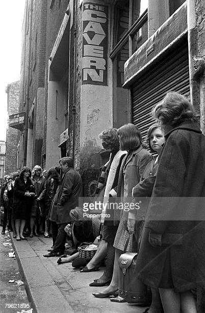 """People, Pop Music, pic: 1964, The famous Cavern Club in Liverpool, England, , the club the scene for the """"Sound of '64 Beat Contest"""", for the finals..."""