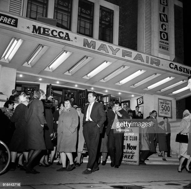 People pour out of Mayfair Bingo Hall in Beverley Road, Hull, East Yorkshire, 16th March 1965.