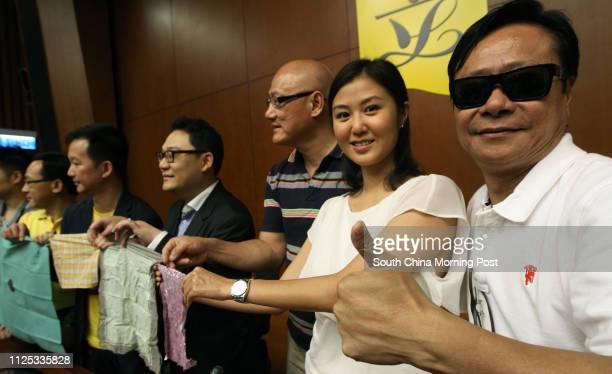 People Power Chairman Christopher Lau Gar-hung; lawmaker Albert Chan Wai-yip; Erica Yuen Mi-ming, committee member of People Power, and lawmaker...