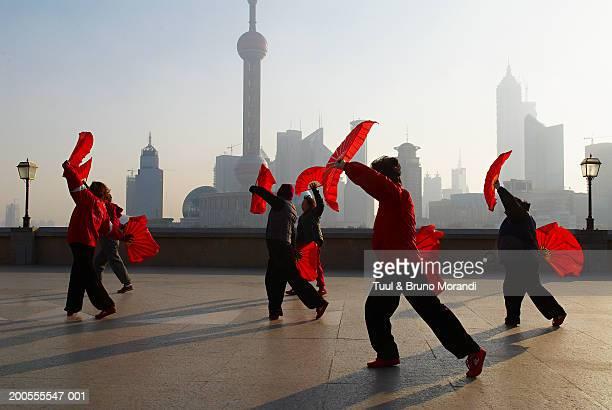 People practicing Tai Chi