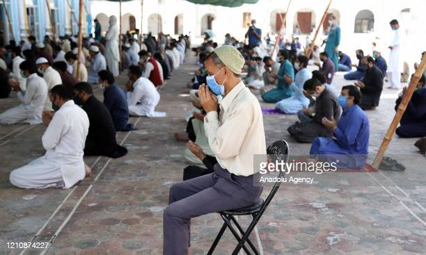 """People pray at the Jamia Masjid during the Muslims weekly Friday prayers as the country observed April 24 Friday as """"Repentance and Blessings Day"""",..."""