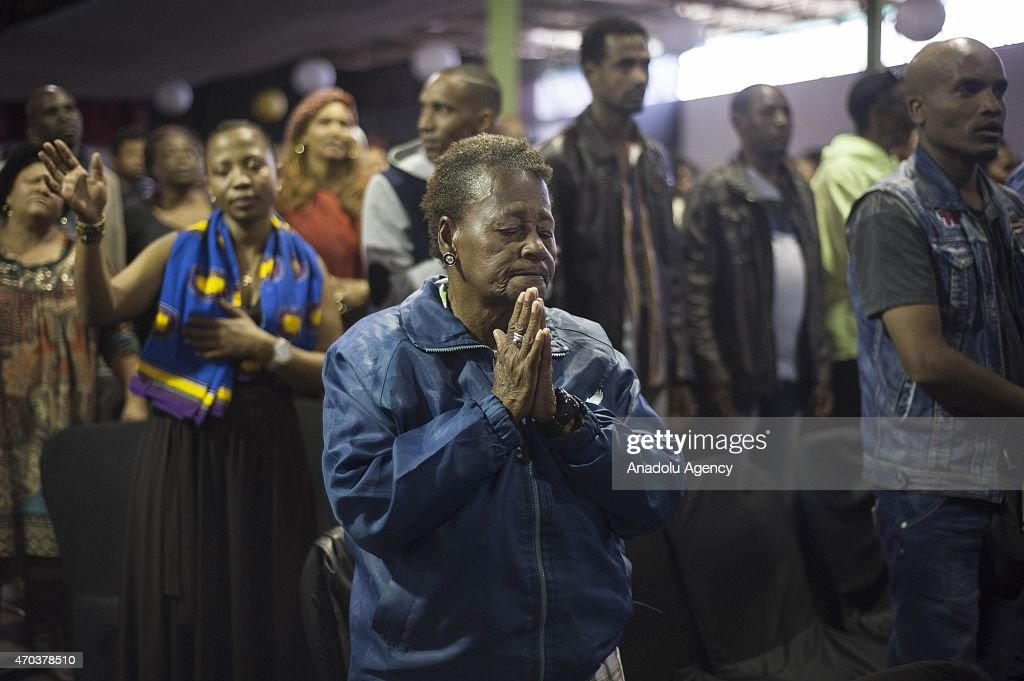 South Africans pray against anti-migrant violence in Johannesburg : News Photo