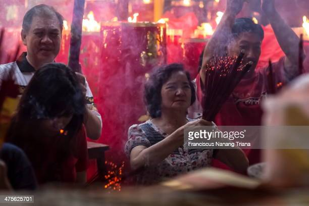 CONTENT] People pray with burning myrrh during Chinese New Year31st January 2014 at Dharma Bhakti temple Glodok Jakarta the eldest Chinese temple in...