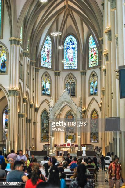 People praying at Metropolitan Cathedral of Guayaquil Holy Week 2017 Guayaquil Ecuador