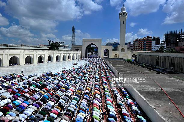 People praying jumatulwida's at Baitul Mukarram mosque in Dhaka Jumatulwida is the last Friday of the Ramadan month