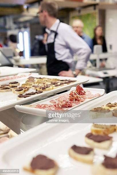 People preparing snacks