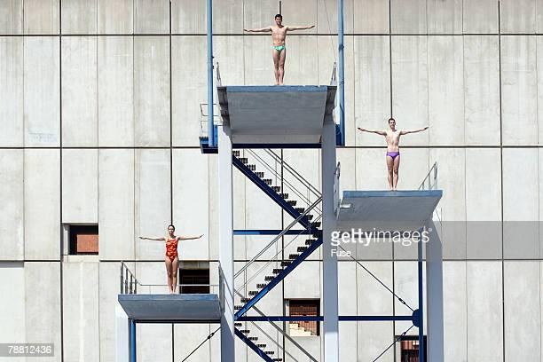 People Preparing to Dive