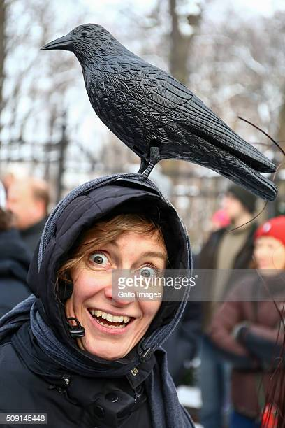 People protest against Law and Justices plans of deforestation in the Polish region of Bialowieza Forest on January 17, 2016 at Agrykola Park in...