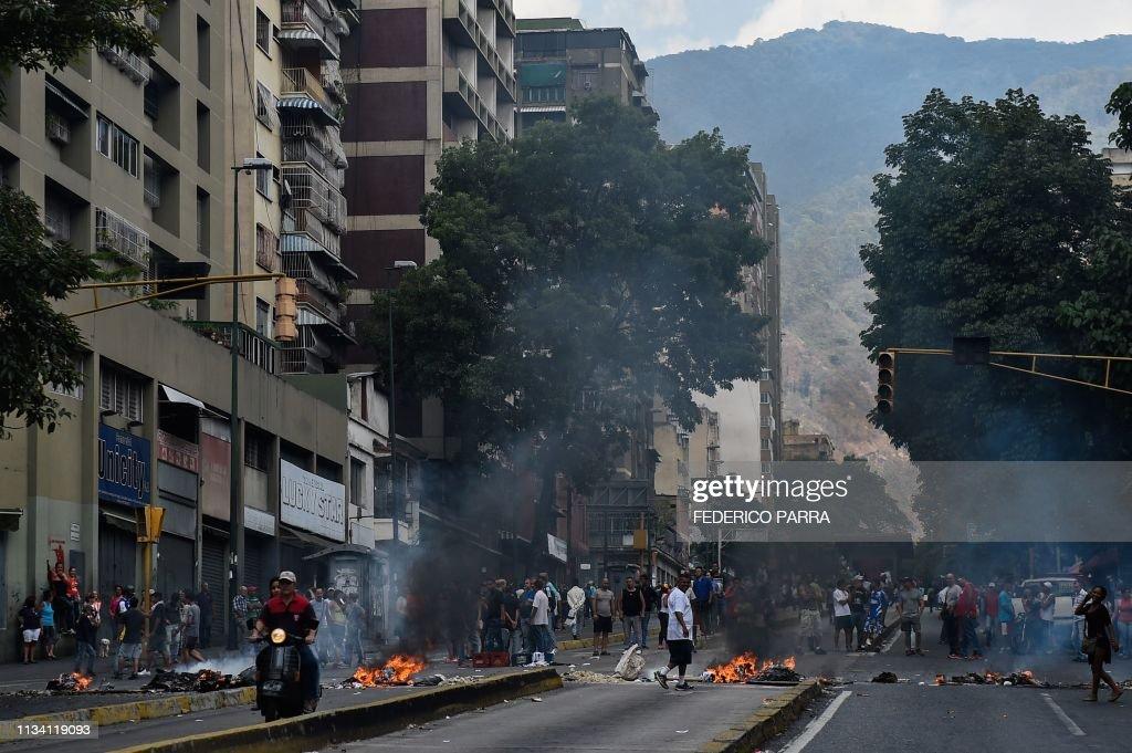 VENEZUELA-CRISIS-POWER-OUTAGE-PROTEST : Nachrichtenfoto