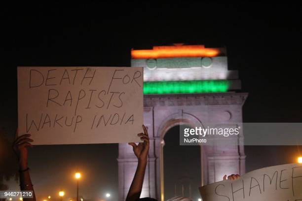 People protest in solidarity with Asifa an 8 year old Muslim Rape victim on 14 April 2018 People demanded justice for the victim who was reportedly...