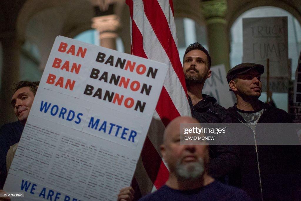 US-POLITICS-TRUMP-BANNON : News Photo