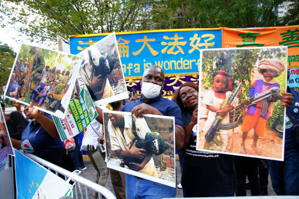 NY: Protestors Rally Outside United Nations General Assembly