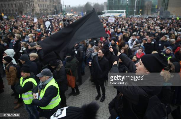 People protesting against a new government measure to further restrict abortions in Poland gather as part of Black Friday demonstrations nationwide...