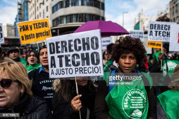 People protesting with placards during a demonstration where thousands marched to the Governments Party headquarters to protest for the right of...