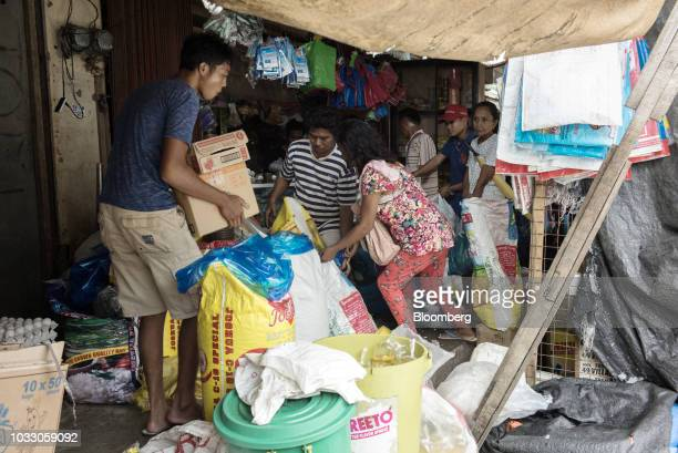 People purchase groceries at a market ahead of Typhoon Mangkhut's in Tuguegarao Cagayan province the Philippines on Friday Sept 14 2018 Philippines...