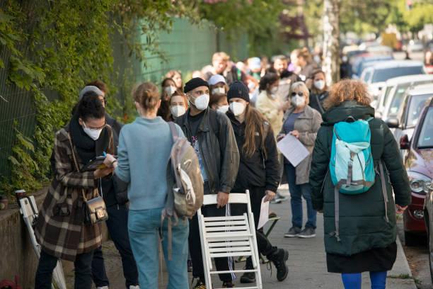 DEU: Long Lines For Weekend AstraZeneca Vaccination