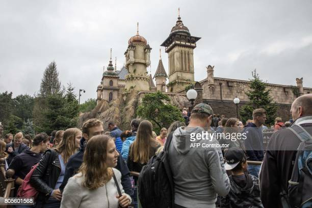 Palace of Fantasy during the openings weekend of the new attraction at the Efteling a theme park in Kaatsheuvel on July 2 2017 / AFP PHOTO / ANP /...