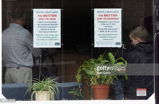 People queue inside the Bristol Credit Union office on November 17 2008 in Bristol England The business group the CBI has warned that the UK's...