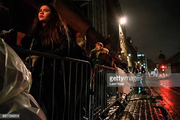 People queue to enter the iconic Fabric nightclub as it reopens its doors on January 6 2017 in London England The nightclub lost its licence...