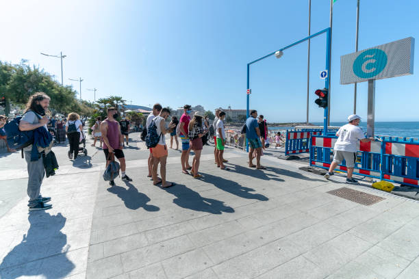 ESP: Queues at The Control Access Of Riazor Beach