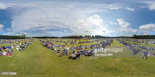 People queue up for tickets to the Wimbledon Lawn Tennis Championships at the All England Lawn Tennis and Croquet Club on July 6 2015 in London...