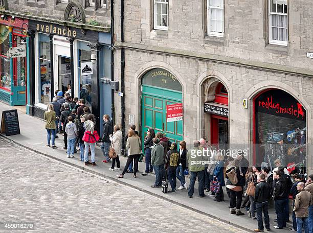 People Queueing Outside Avalanche Records
