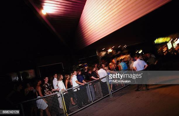 People queuing outside Progress Derby July 1999