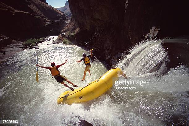 people rafting - whitewater rafting stock pictures, royalty-free photos & images