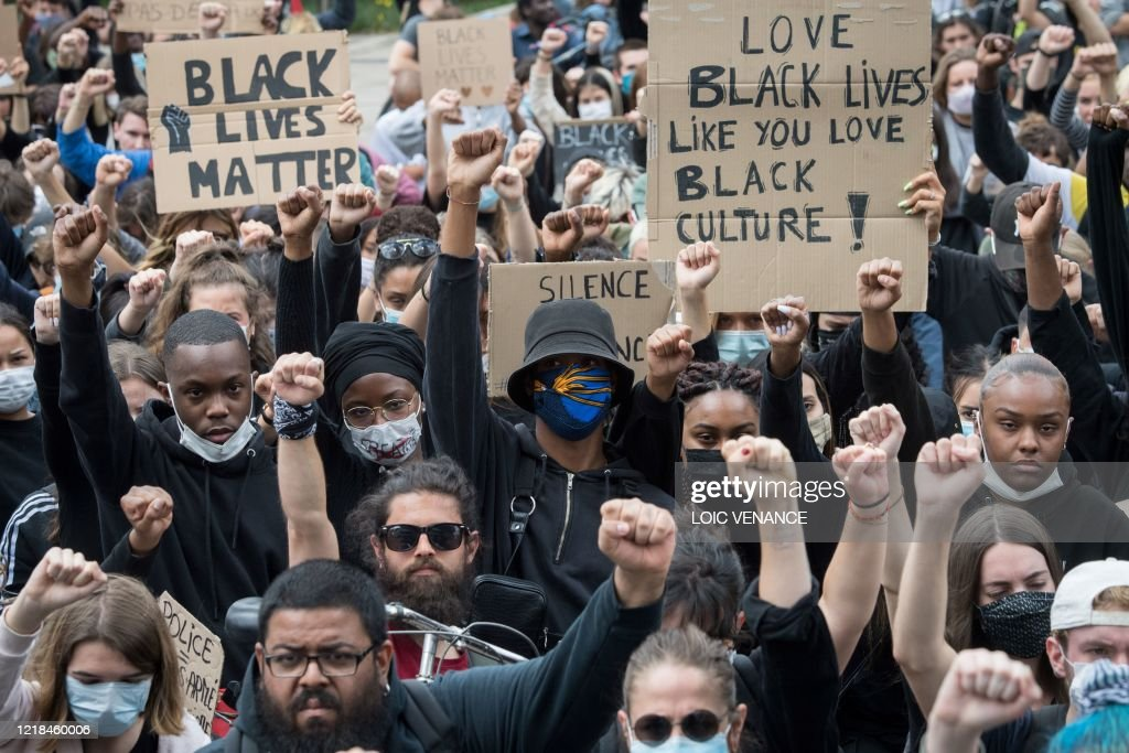 FRANCE-US-RACISM-PROTEST : News Photo