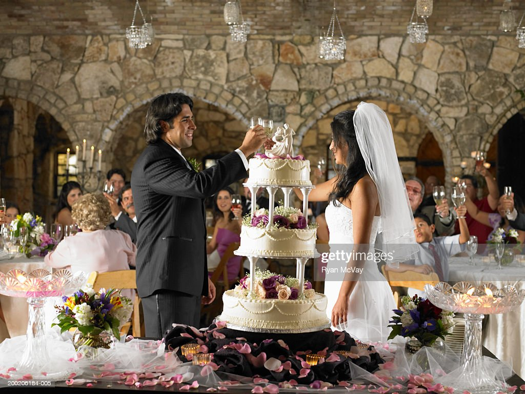 People Raising Toast At Wedding Reception Stock Photo Getty Images