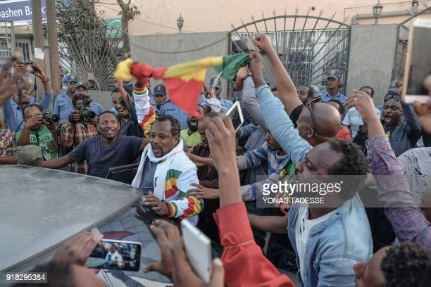 People react as Ethiopian jounalist Eskinder Nega who was given an 18year prison sentence in 2012 on accusations of links to the banned Ginbot 7...
