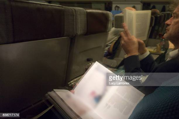 People reading on the train