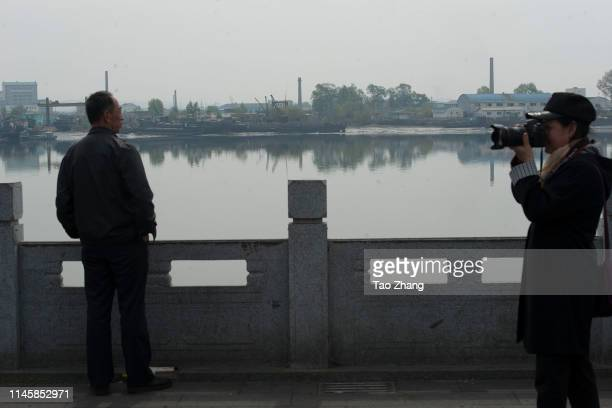 People relax at Moon island on April 29, 2019 in Dandong, China.The leader of the Democratic People's Republic of Korea , Kim Jong Un, has called for...