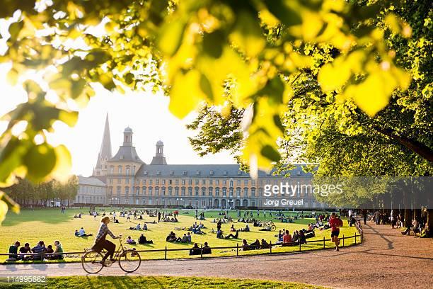 People relaxing at the Hofgarten (Court Garden)