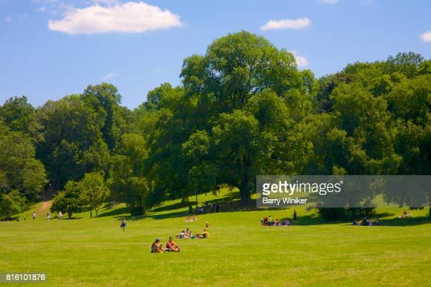People relaxing in Brooklyn's Prospect Park