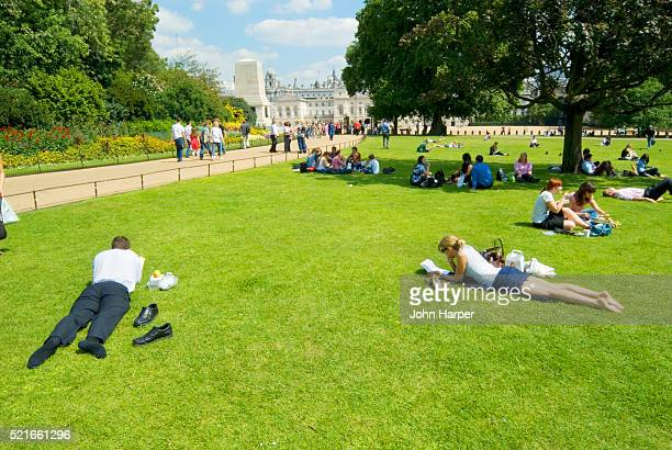 People Relaxing in Green Park