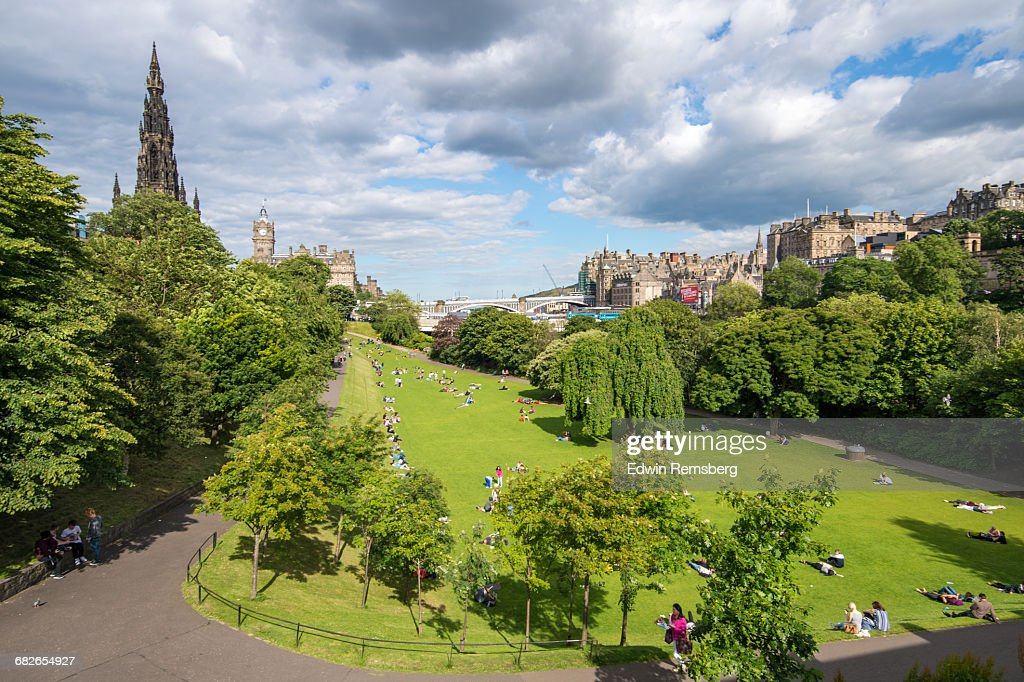 People Relaxing In Princes Street Gardens Stock Photo | Getty Images