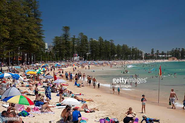 People relaxing on Manly Beach, Manly, Sydney, New South Wales, Australia