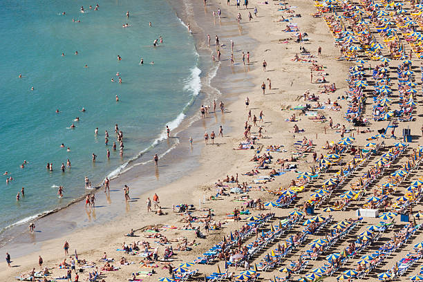 People relaxing on Puerto Rico Beach