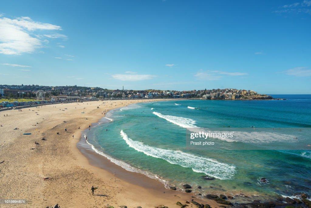 People Relaxing On The Bondi Beach In Sydney Australia Is One Of